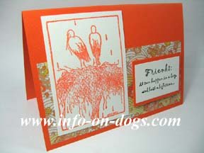 greeting card with crane picture